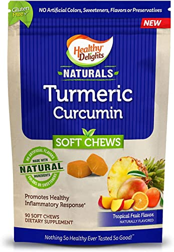 Healthy Delights Naturals, Turmeric Curcumin Soft Chews 90 ct. AS