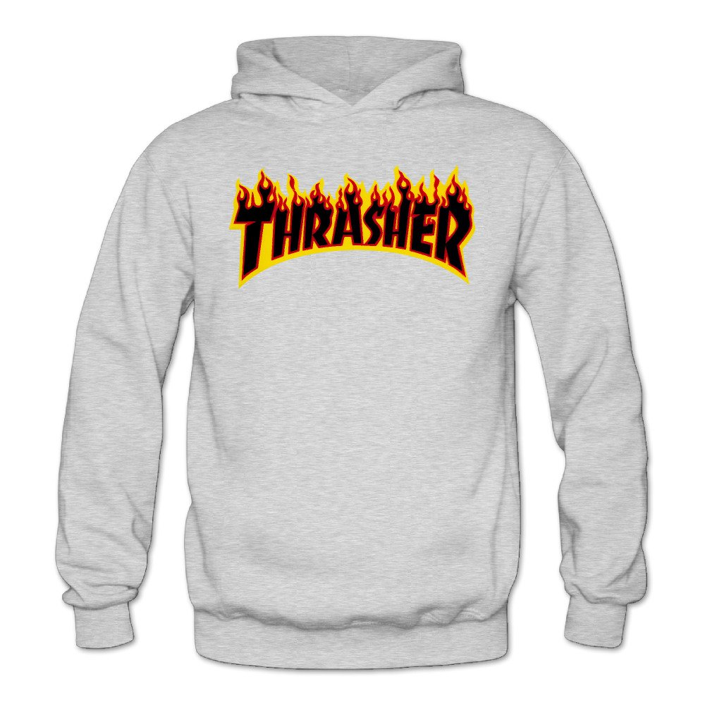 97d2c9b0f1f6 Amazon.com  Liying Women s Thrasher Magazine Flame Logo Hooded  SweatshirtsLong Sleeve S  Clothing