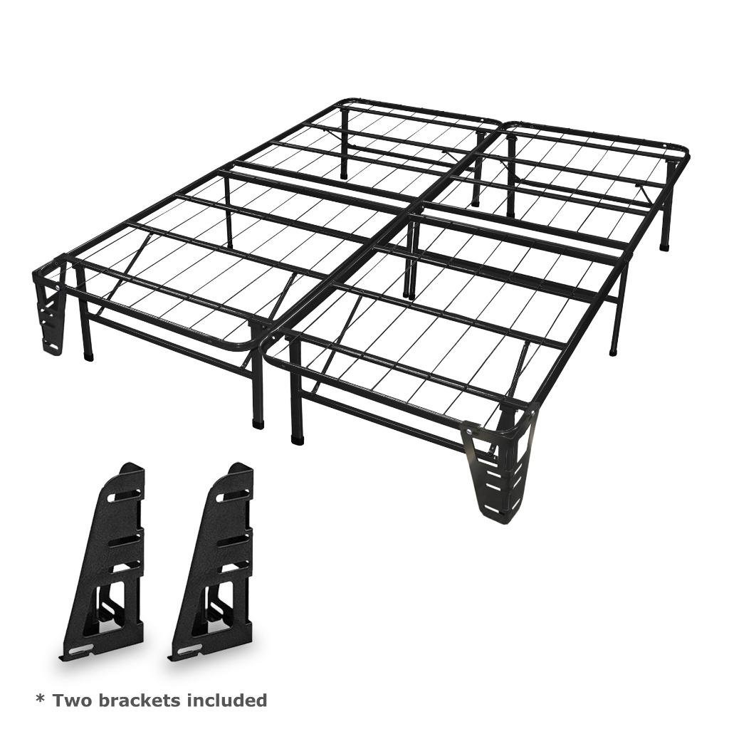 Best Price Mattress New Innovated Box Spring Metal Bed Frame with 2 Brackets, King