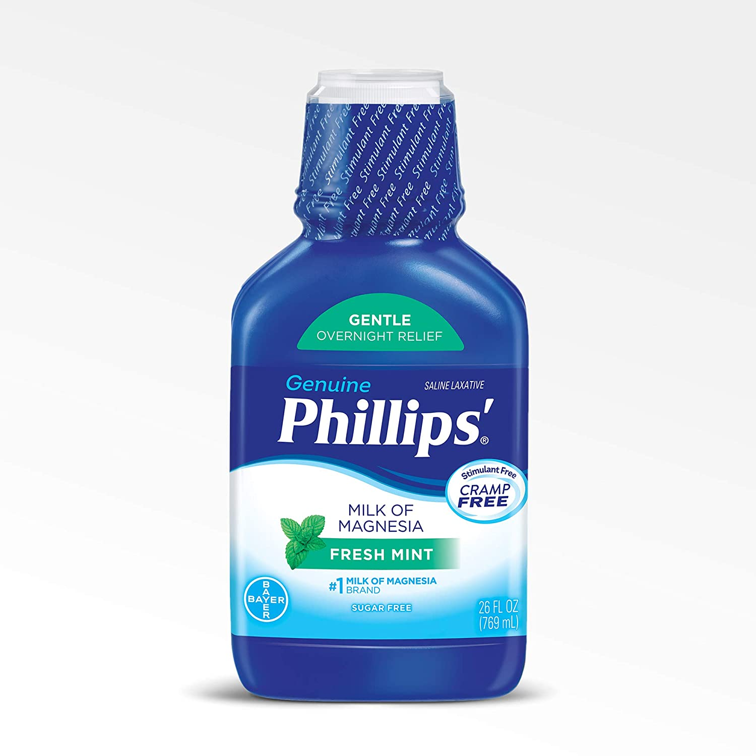 Amazon.com: Phillips Milk of Magnesia Laxative (Fresh Mint, 26-Fluid-Ounce Bottle): Prime Pantry