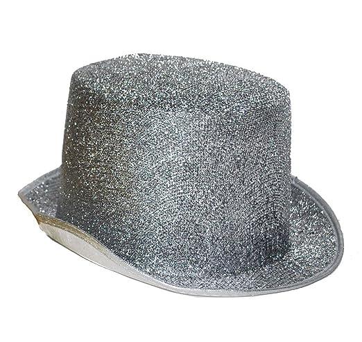 Karneval Klamotten Zylinder Herren Silber Zylinder Hut Silber