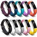 FUNKID Cinturini per Fitbit Alta HR Polso Cinturino di Ricambio per FITBIT Alta Braccialetto (10in1 pacchetto)