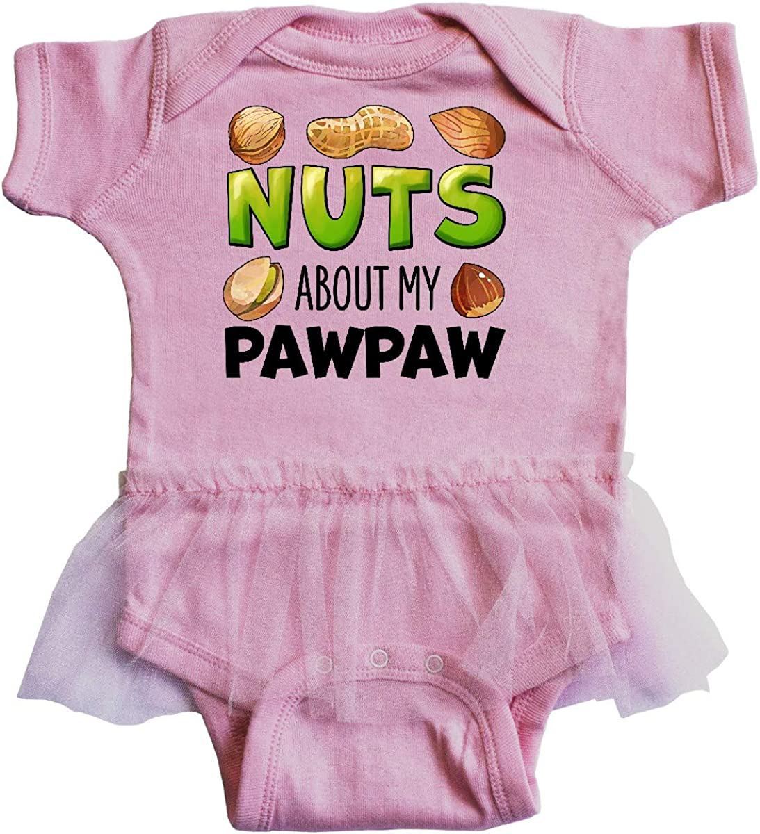 Pistachio Infant Tutu Bodysuit Almond inktastic Nuts About My Pawpaw Peanut