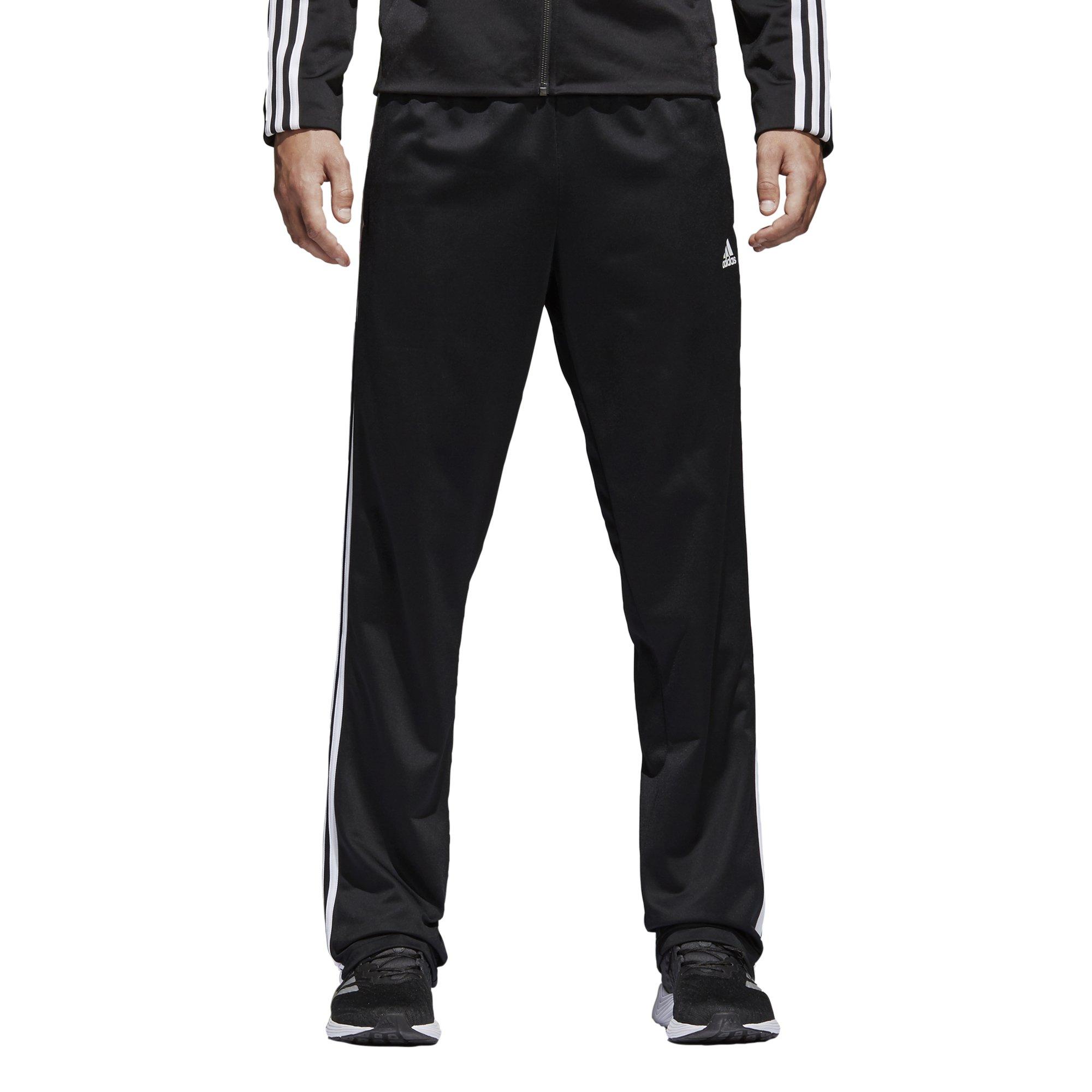 adidas Men's Athletics Essential Tricot 3-Stripe Pants, Black/White, Large