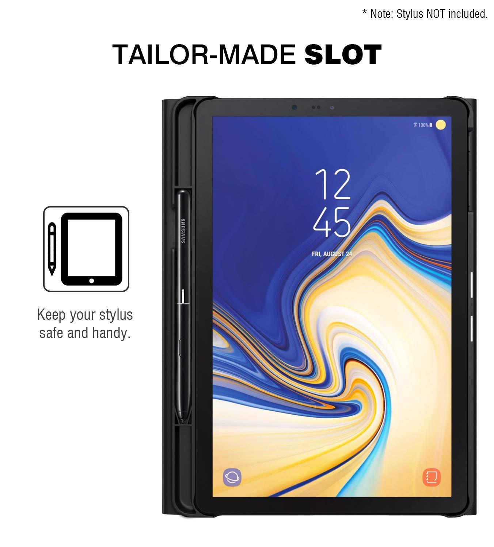 MoKo Funda para Samsung Galaxy Tab S4 10.5 Teclado, Cubierta con Soporte para S Pen, Protector de Teclado Inalámbrico para Galaxy Tab S4 10.5 Inch (SM-T830 ...