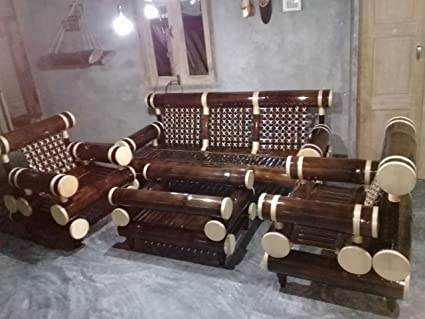 Handmade Bamboo Sofa Furniture Set For Outdoor And Indoor Sa