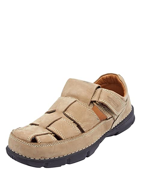Woodland Men Brown Nubuck 9 Sandals