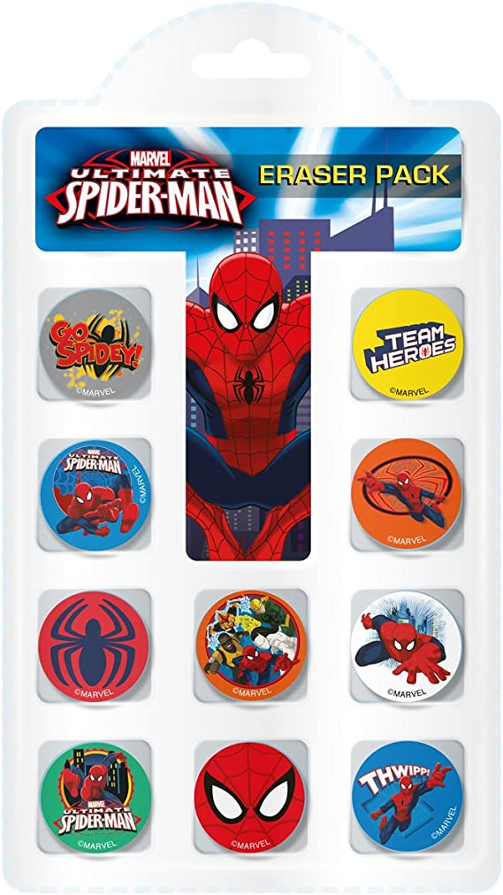 Ultimateimate Spiderman Marvel - Pack de Gomas de borrar, Color ...