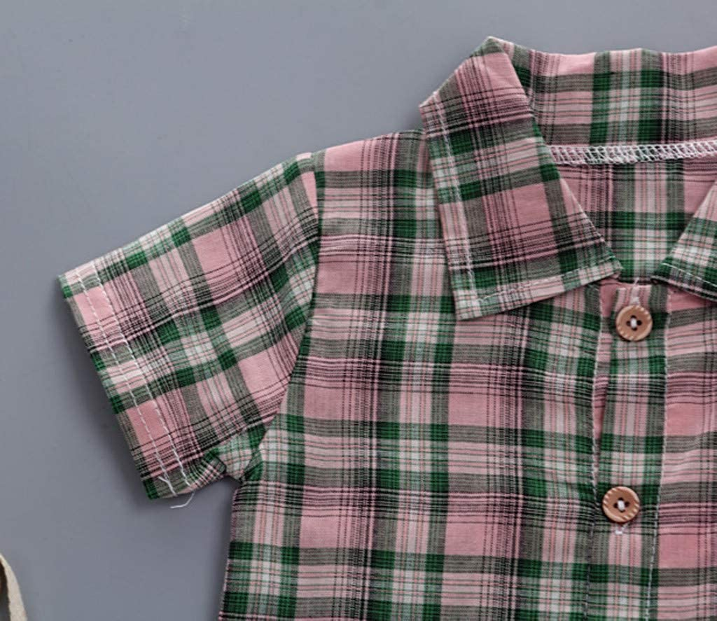 Shorts Two-Piece Set KASSD Baby Boys Boy Plaid Shirt