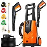 BAYKA 2100PSI Electric Pressure Washer, 1.8GPM 14.5Amps Power Washer Surface Cleaner with Spray Gun 5 nozzles Detergent Tank