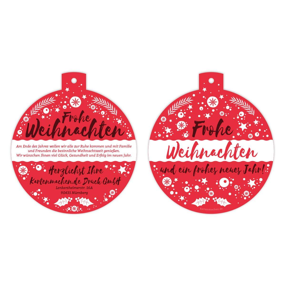 40 x Lasergeschnittene Firmen Weihnachtskarten Grußkarten individuell Weihnachten - Weihnachtskugel Schlicht Rot B07KYLCKPV | Hochwertige Produkte  | Neuheit Spielzeug  | Großer Verkauf