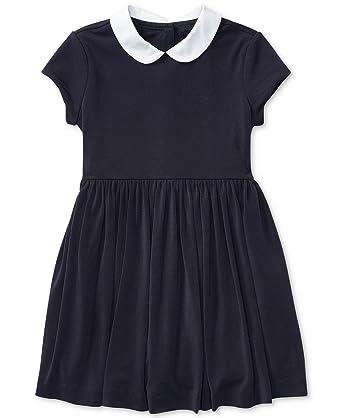 195c53ae9 Amazon.com: RALPH LAUREN Polo Girls Crepe Fit & Flare Dress: Clothing