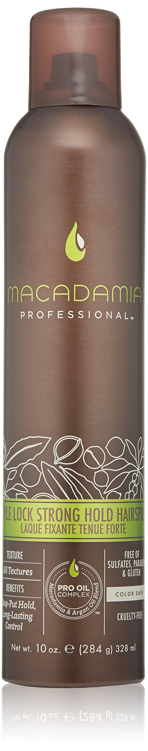 Macadamia Professional Style Lock Strong Hold Hairpsray, 10 oz.