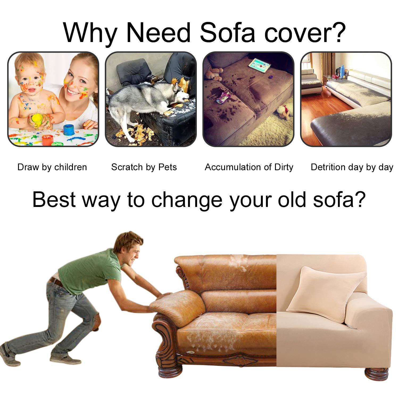 Amazon.com: ANGELLOONG - Funda de sofá elástica en forma de ...