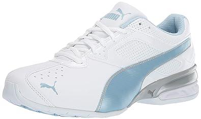 b414862992ea32 PUMA Women s Tazon 6 FM Sneaker White-Cerulean Silver
