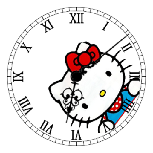 Hello Kitty Clock Widget