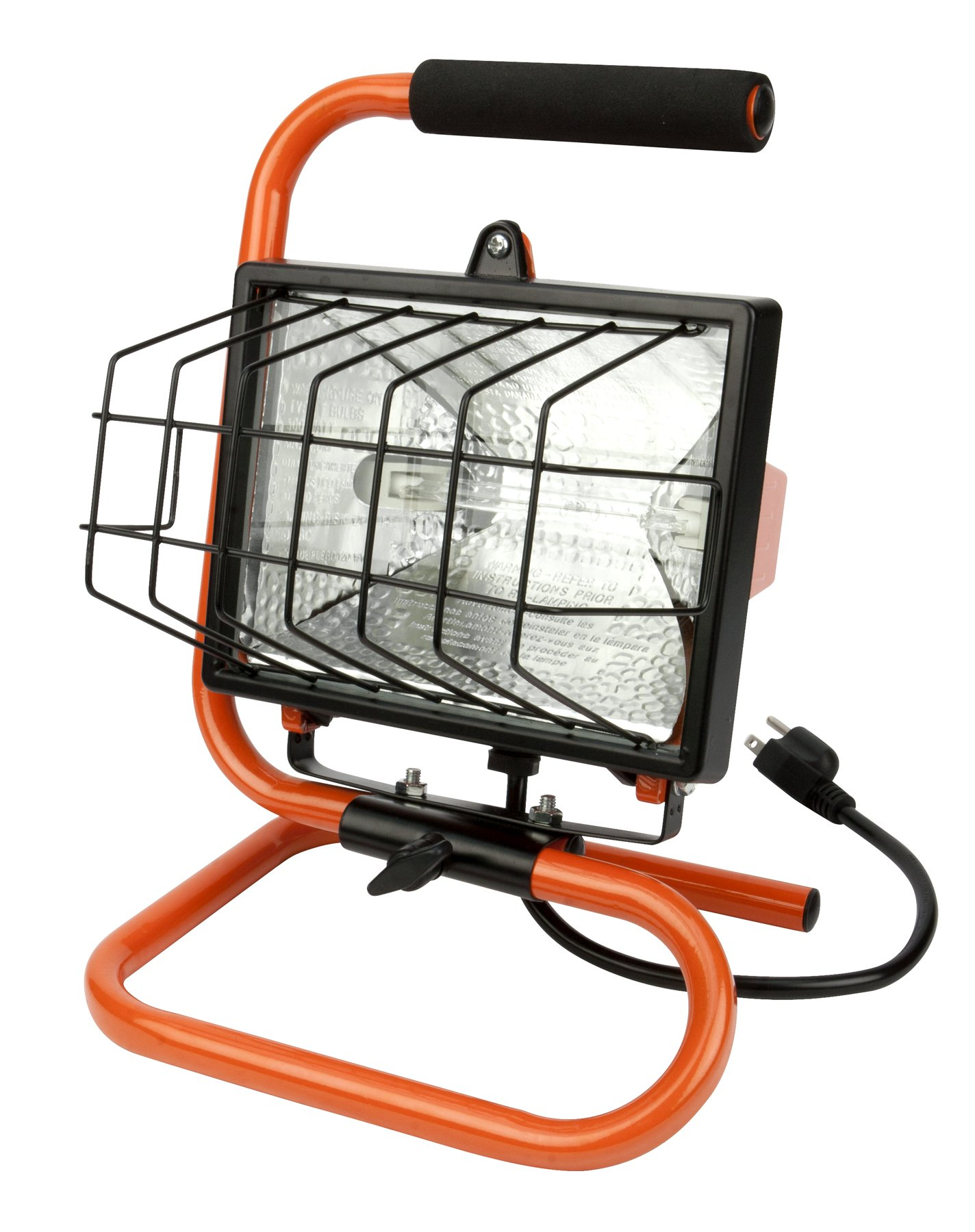 Performance Tool W2264  500-Watt Portable Handheld Halogen Worklight with Stand & Handle,  Adjustable Lighting Angle,Lens guard, Industrial Aluminum Housing.