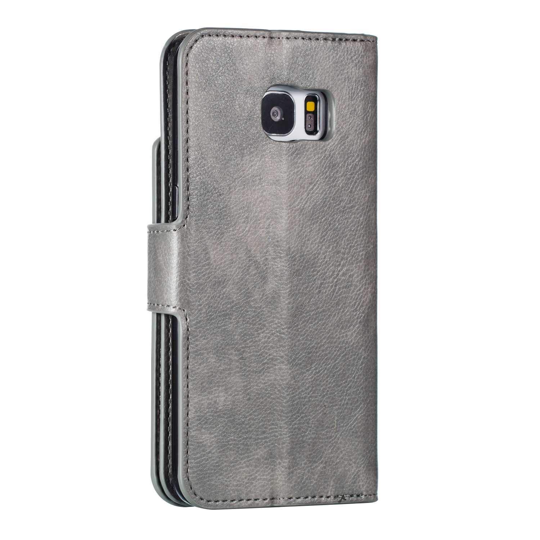 detailed look 20cbb 65744 Amazon.com: UNEXTATI Galaxy S7 Edge Wallet Case, Leather Folding ...