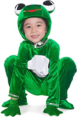 6bd869449726 LOLANTA Unisex Deluxe Kids Frog Costume Zip Up Child Halloween School Play  Party Outfit