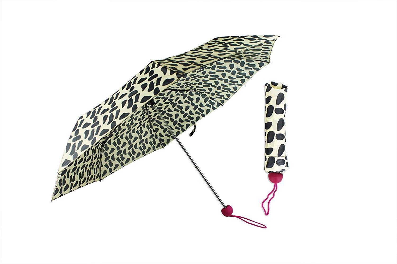 Paraguas animales impresión Ladies compacto plegable resistente al agua bola mango a juego funda plegable paraguas pequeño paraguas ligero paraguas invierno ...