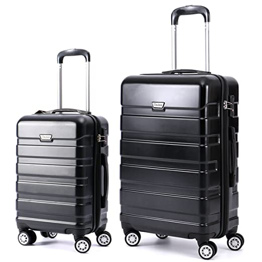 HoJax 20 24 28 Inch P.E.T Luggage Eco-friendly Travel Suitcase With 4 Spinner Wheels