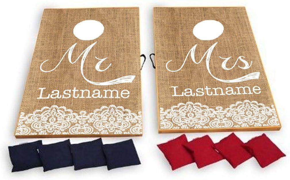 Personalized Wedding Gift Tailgate Bean Bags Custom Cornhole Bags Custom Wedding Corn hole bags Backyard Games State Cornhole Bags