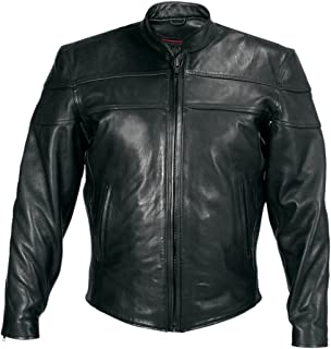 Amazon.com: Motorcycle Jackets - Classic Biker Leather Jacket 64