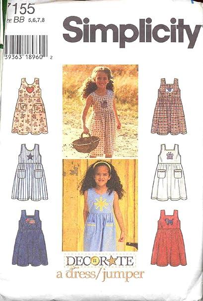 Amazon Girls Sundress Jumper Simplicity 40 Sewing Pattern Fascinating Sundress Sewing Pattern