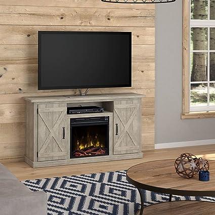 Amazon Com Serein 48 Tv Stand With Fireplace 4600 Btus Ashland