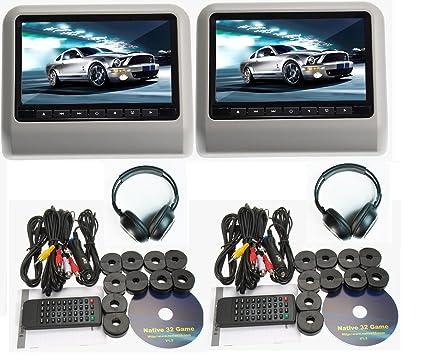 Amazon 2018 New Gray Dual Universal Mount 9 LCD Screen Car