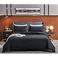 SORMAG 100% Washed Cotton Duvet Cover 3 Piece, Comforter Cover Twin Size, 800 Thread Count Solid Color and Ultra Soft…