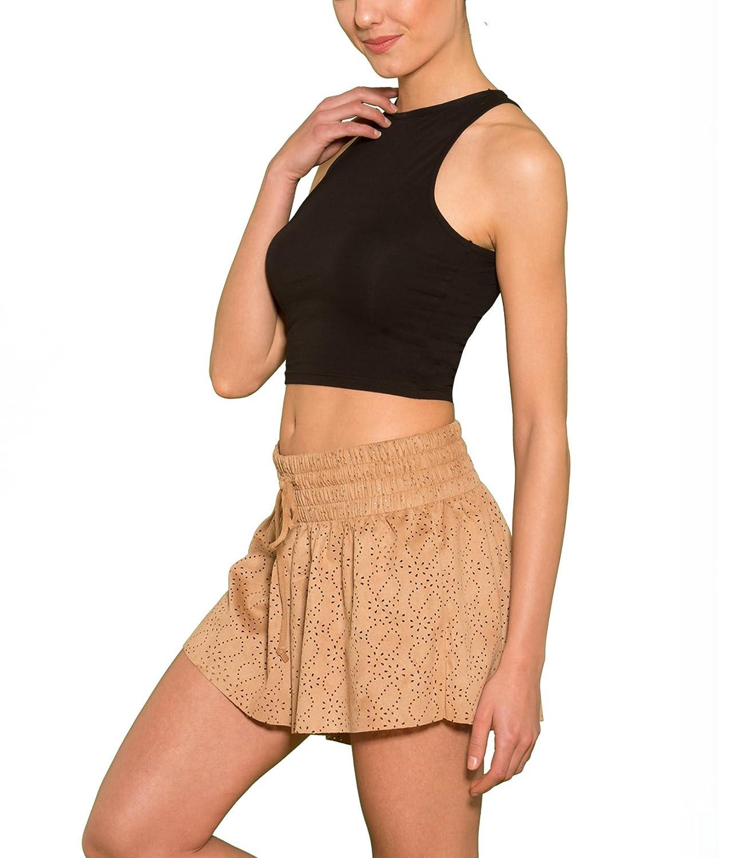 3eaec5081d327b Kefali Halter Crop Top Kurz Bauchfrei Elastisch Stretch Baumwolle Damen  Mädchen reizend