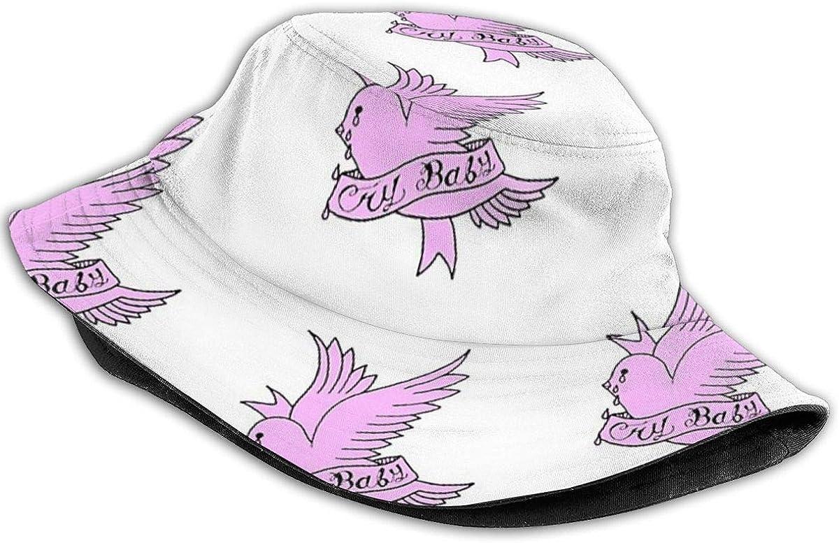 Crybaby Lil Peep Pink Bucket Hat Trendy Fisherman Hats Unisex Reversible Packable Cap