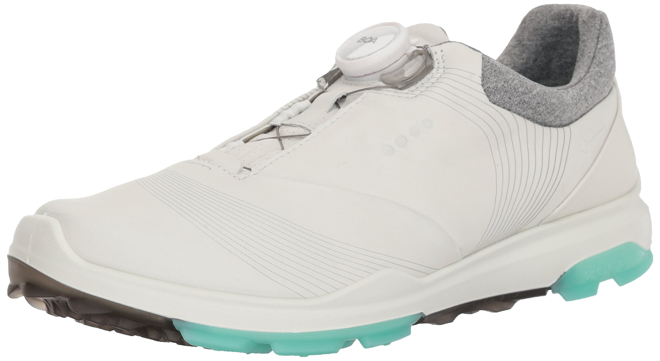 ECCO Women's Biom Hybrid 3 BOA Gore-Tex Golf Shoe, White/Emerald Yak Leather, 5 M US by ECCO