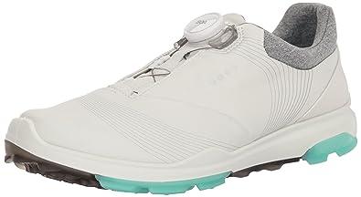 ECCO Women's Biom Hybrid 3 Boa Gore-TEX Golf Shoe, White/Emerald,