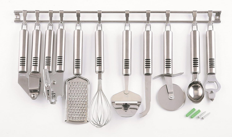 Küchenhelfer Set 10er Edelstahl Küchenreling Küchenleiste ...