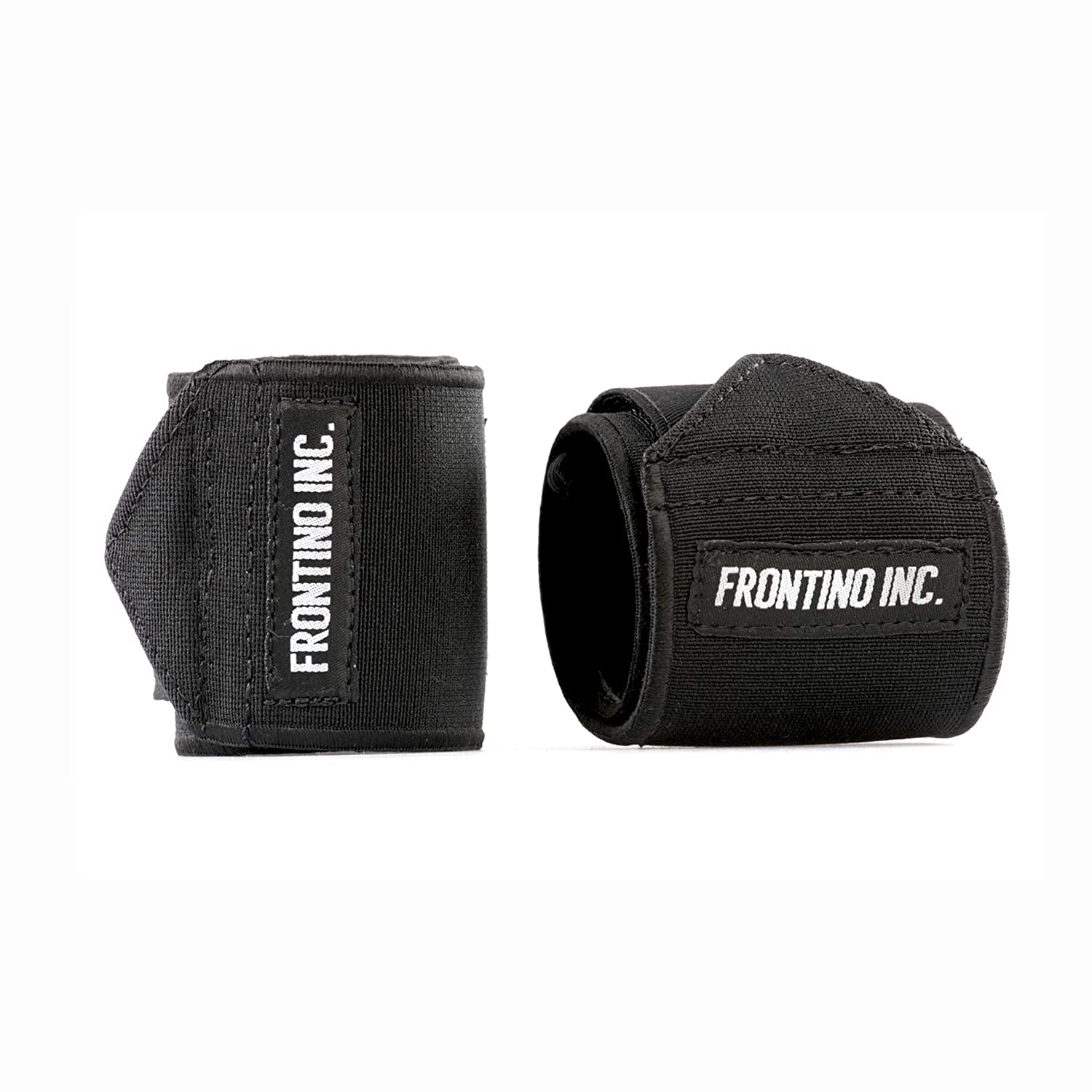 Black Frontino Inc. Elastic Wrist Wraps Wrist Predection Support Crossfit WOD, Fitness, Powerlifting, Gymnastics, Bodybuilding, Weightlifting Weight Training
