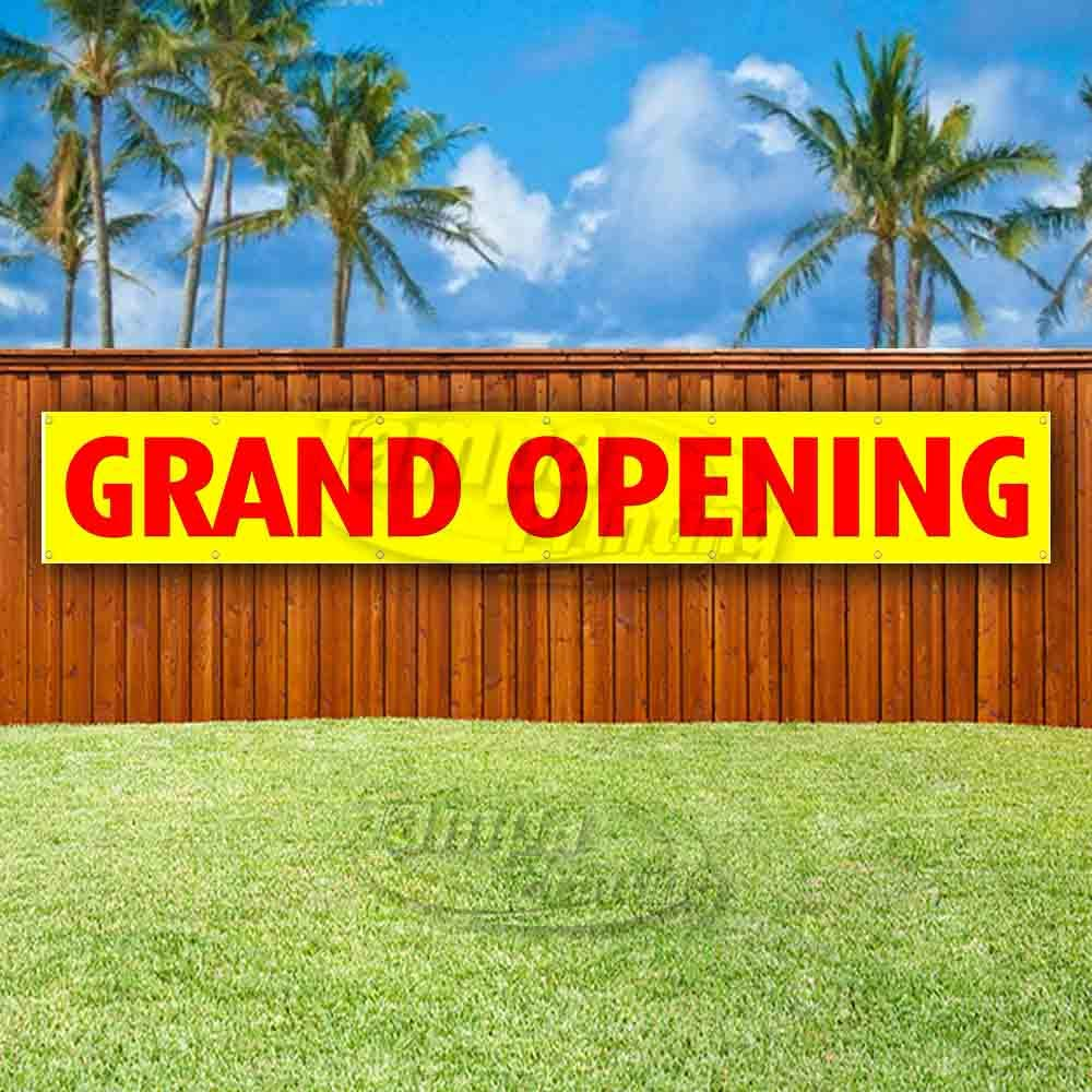 Flag, New Advertising Grand Opening Extra Large 13 oz Heavy Duty Vinyl Banner Sign with Metal Grommets Many Sizes Available Store