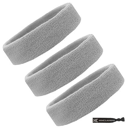 4c629a8a3950 Kenz Laurenz Sweat Bands Headbands for Women Men Elastic Headband Sports  Sweatbands Athletic Stretchy Head Band Workout Running Basketball Moisture  Wicking ...