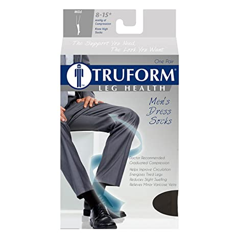 Amazon.com: Truform Compression 8-15 mmHg Knee High Dress Style Socks Navy, X-Large, 2 Count: Health & Personal Care