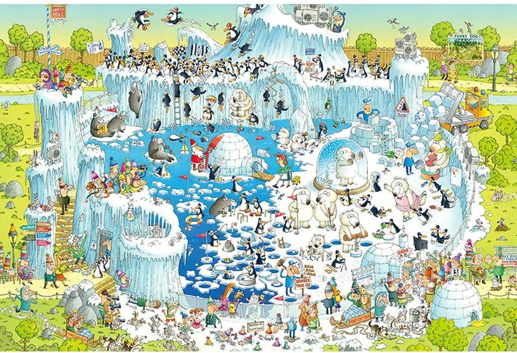 Puzzles 1000 Piezas, Artico Artificial, Niños Adultos Madera Familia Juego Educativo Inteligencia Desafío Rompecabezas Decoración Regalo -5.7