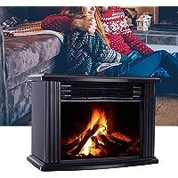 Chimenea eléctrica con efecto de llama, termostato de 3 niveles para chimenea eléctrica, estufa estilo retro