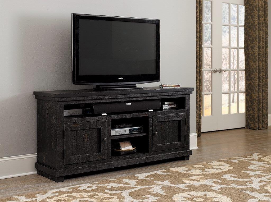 Progressive Furniture Willow 64'' Media Console, Distressed Black
