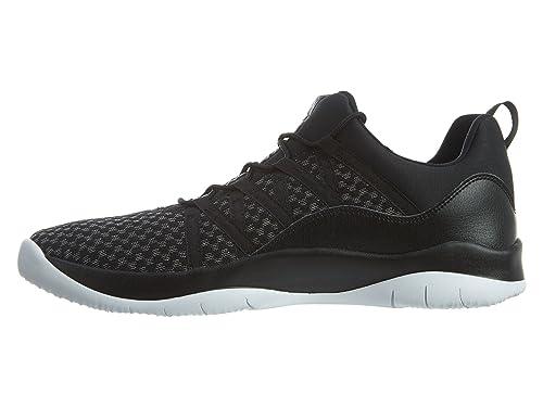 Amazon.com | NIKE Jordan Deca Fly GG Girls Fashion-Sneakers (7 M US Big Kid, Black/White-White) | Sneakers