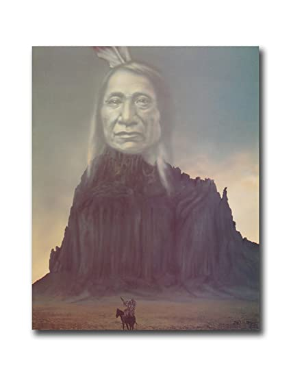 Native American Indian Chief Mountain Spirit Wall Picture 8x10 Art Print