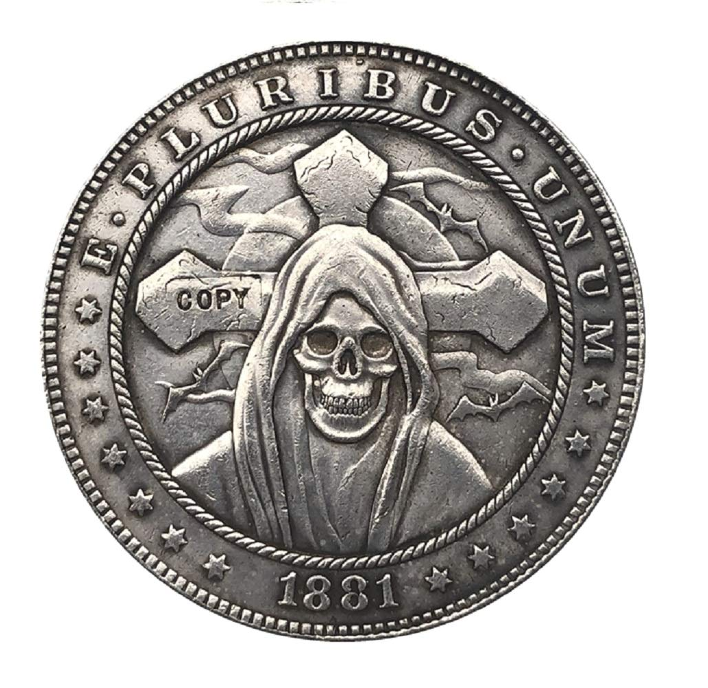 Amazon.com: Moneda pirata Hobo Níquel 1881-CC EE.UU. Morgan ...