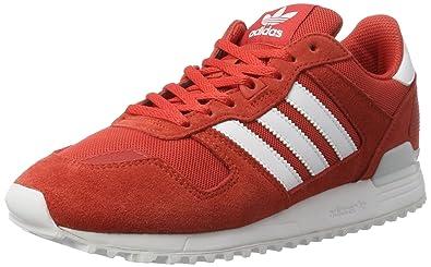 timeless design 0ee1d 561af adidas ZX 700, Chaussures de Sport Homme - Rouge - Multicolore  (Rojtac Ftwbla