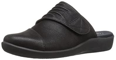 Clarks Narrative Sillian Rhodes Women US 7 N/S Black Mules G7HZUByN