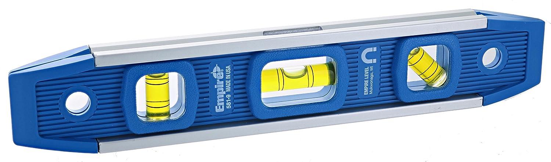 Empire 581-9 9-Inch Dark Blue Aluminum-Sided Dark Blue Torpedo Level with Overhead Viewing Slot