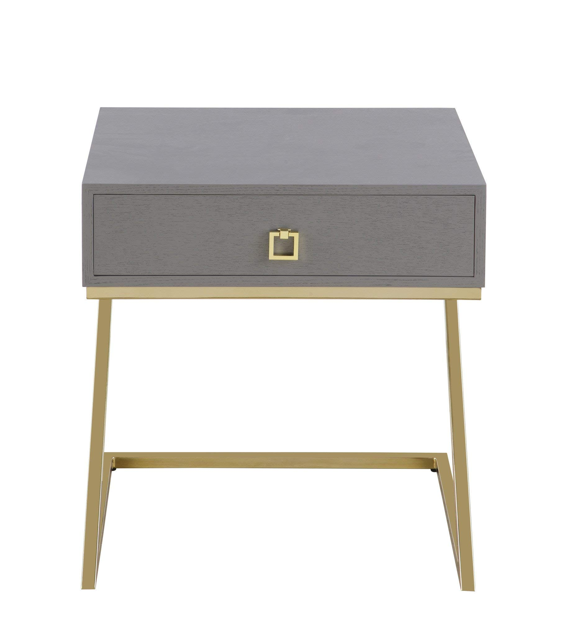 Iconic Home Nightstand Side Table Gray by Iconic Home
